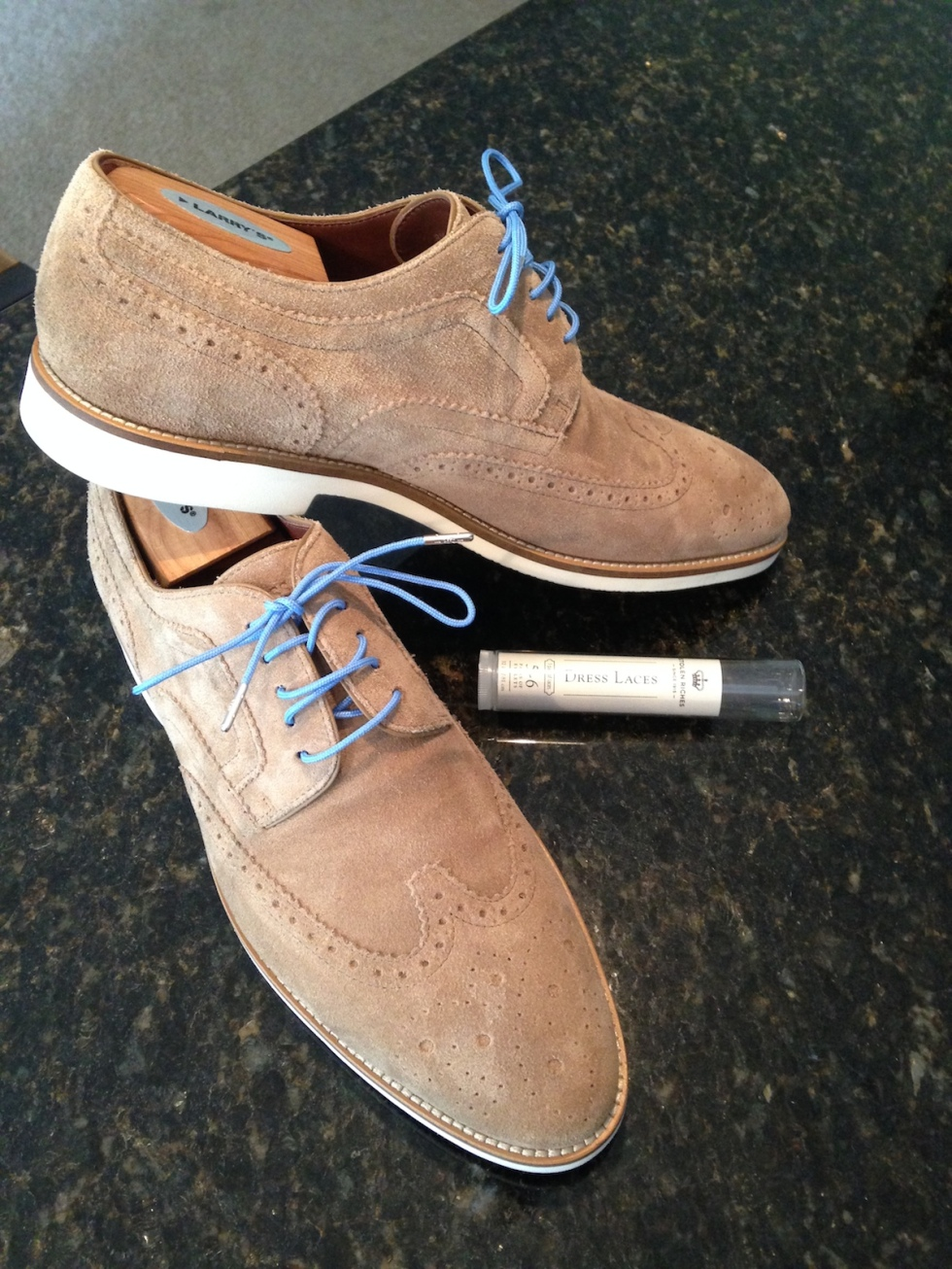 Laces on Hugo Boss suedes 2
